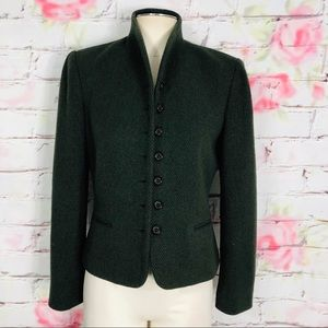 Ralph Lauren equestrian look button up wool blazer